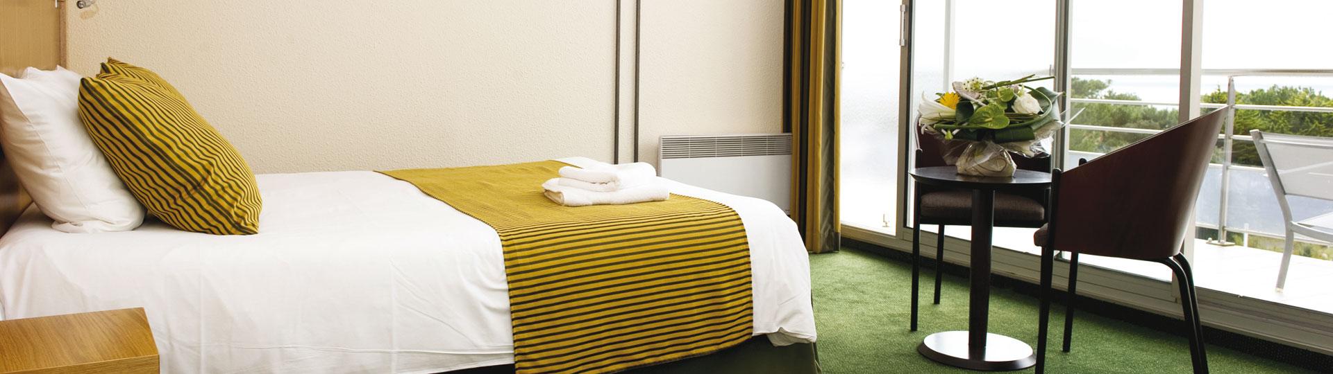Chambre double - Hôtel *** Les Jardins de l'Atlantique