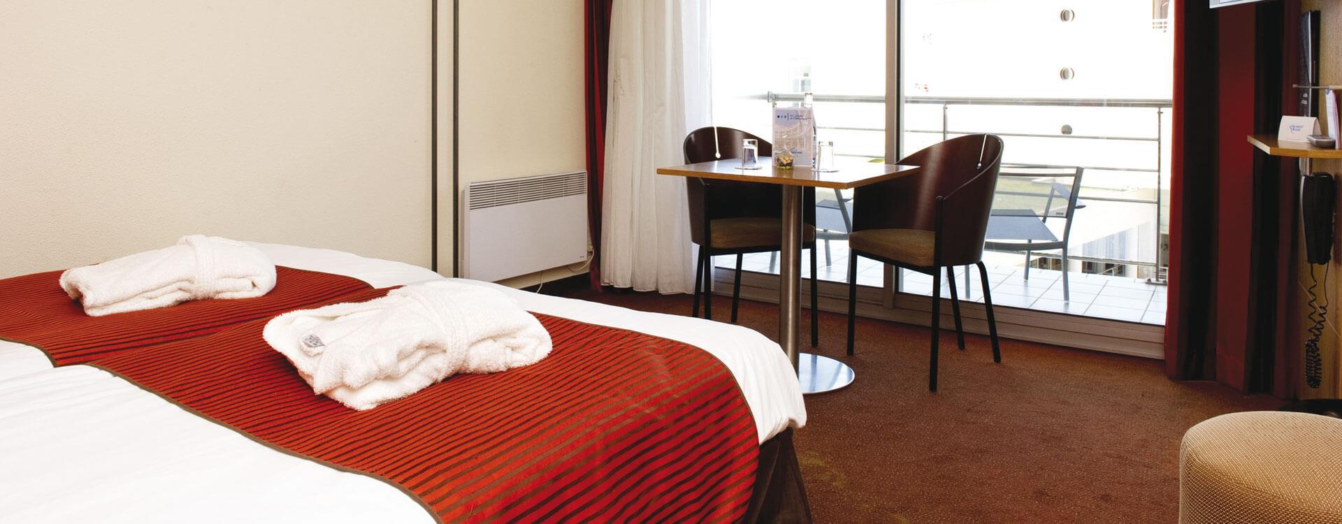 Chambres triples - Hôtel *** Les Jardins de l'Atlantique
