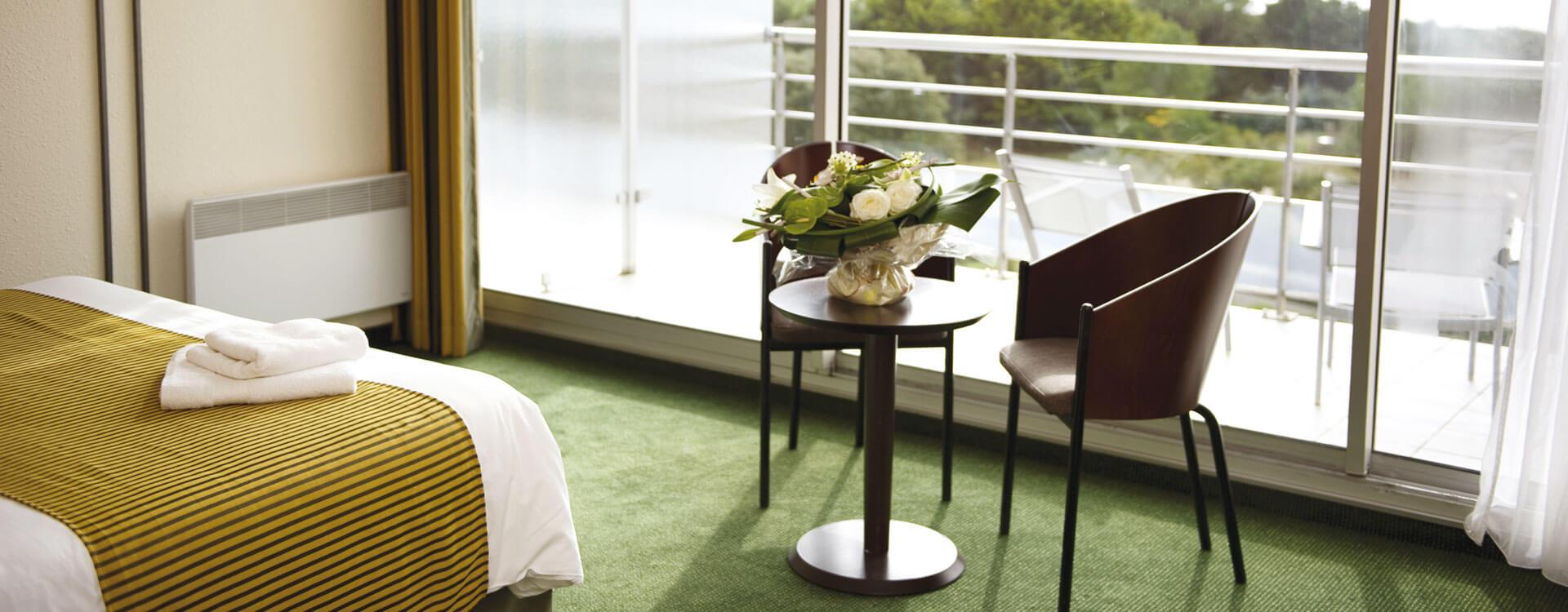 Chambres - Hôtel *** Les Jardins de l'Atlantique