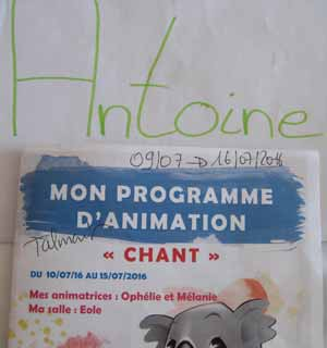 prgramme animation club enfants
