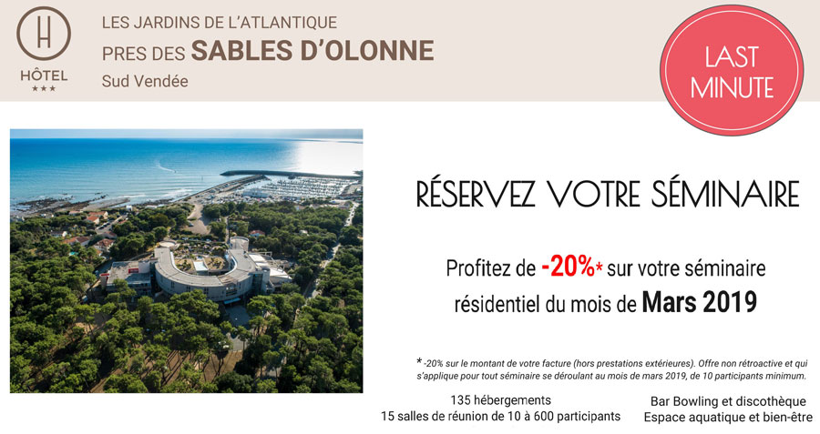 offre seminaire - hotel jardins atlantique